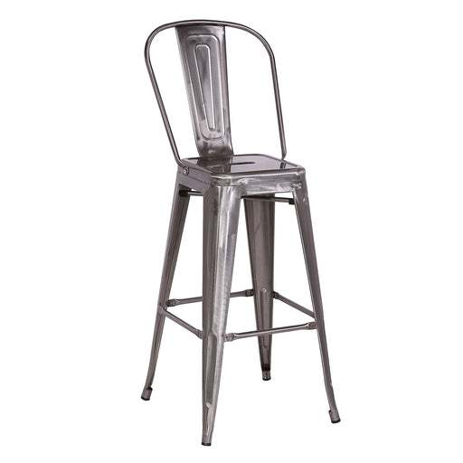 "Gordon Metal Bar Stool 30"" (Raw Metal)"