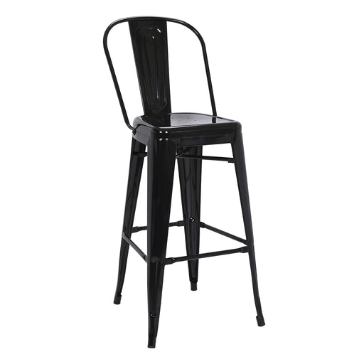 "Portland Metal Bar Stool 30"" (Black)"