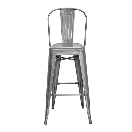 "Portland Metal Bar Stool 30"" (Raw Metal)"