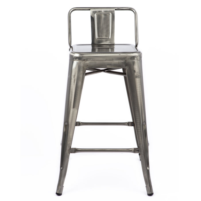 "Trent Metal Bar Stool 30"" (Raw Metal)"