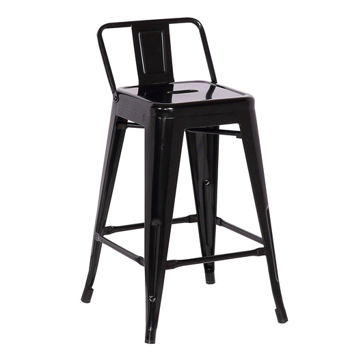 "Trent Metal Counter Stool 24"" (Black)"