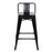 "Trent Metal Bar Stool 24"" (Black)"