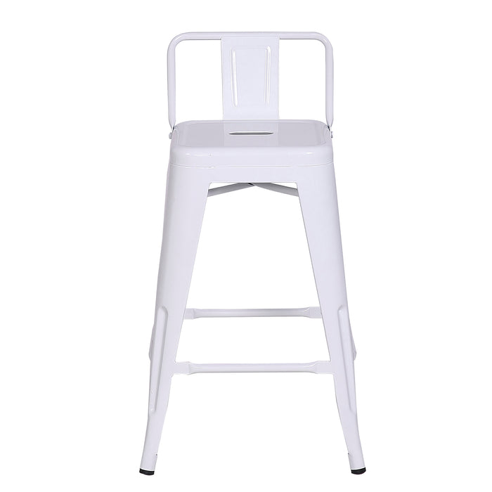 "Trent Metal Bar Stool 24"" (White)"