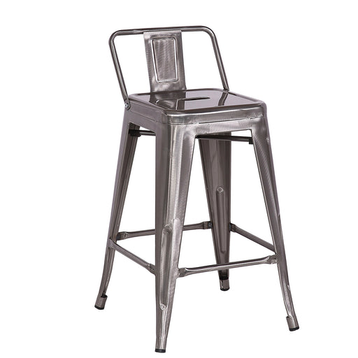 "Trent Metal Bar Stool 24"" (Raw Metal)"
