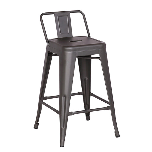 "Trent Metal Bar Stool 24"" (Gun Metal)"