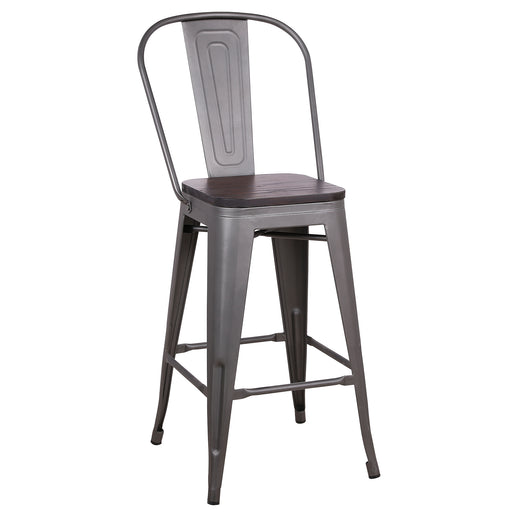 "Louis Metal Counter Stool 26"" (Gun Metal)"