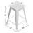 "Nixxon Metal Bar Stool 24"" (Raw Metal)"