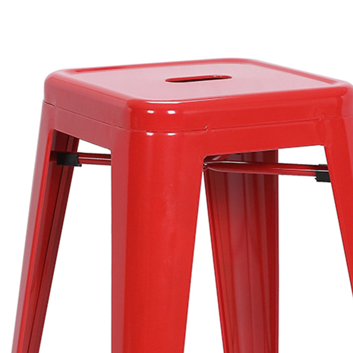 "Nixxon Metal Counter Stool 24"" (Red)"