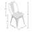 Burton Metal Chair (Gun Metal) with Dark Elm Wood Seat 18""