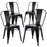 Colin Metal Chair (Black) 18""