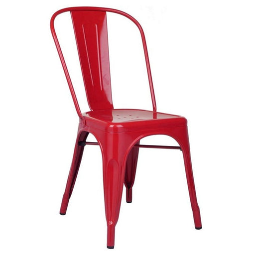 Colin Metal Chair (Red) 18""