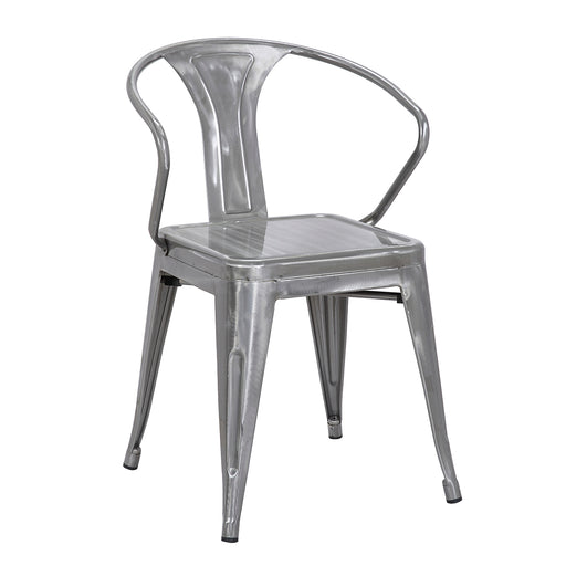 Lincoln Metal Chair (Natural Metal) 18""