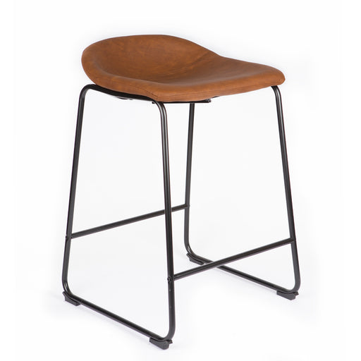 "Jacob 26"" Counter Stool with PU Leather (Tan Brown) - 1 Unit"