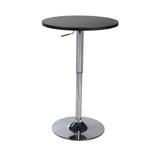 Hope Adjustable Height Pub Table (Black)
