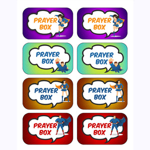 Super Hero Prayer Tin Templates
