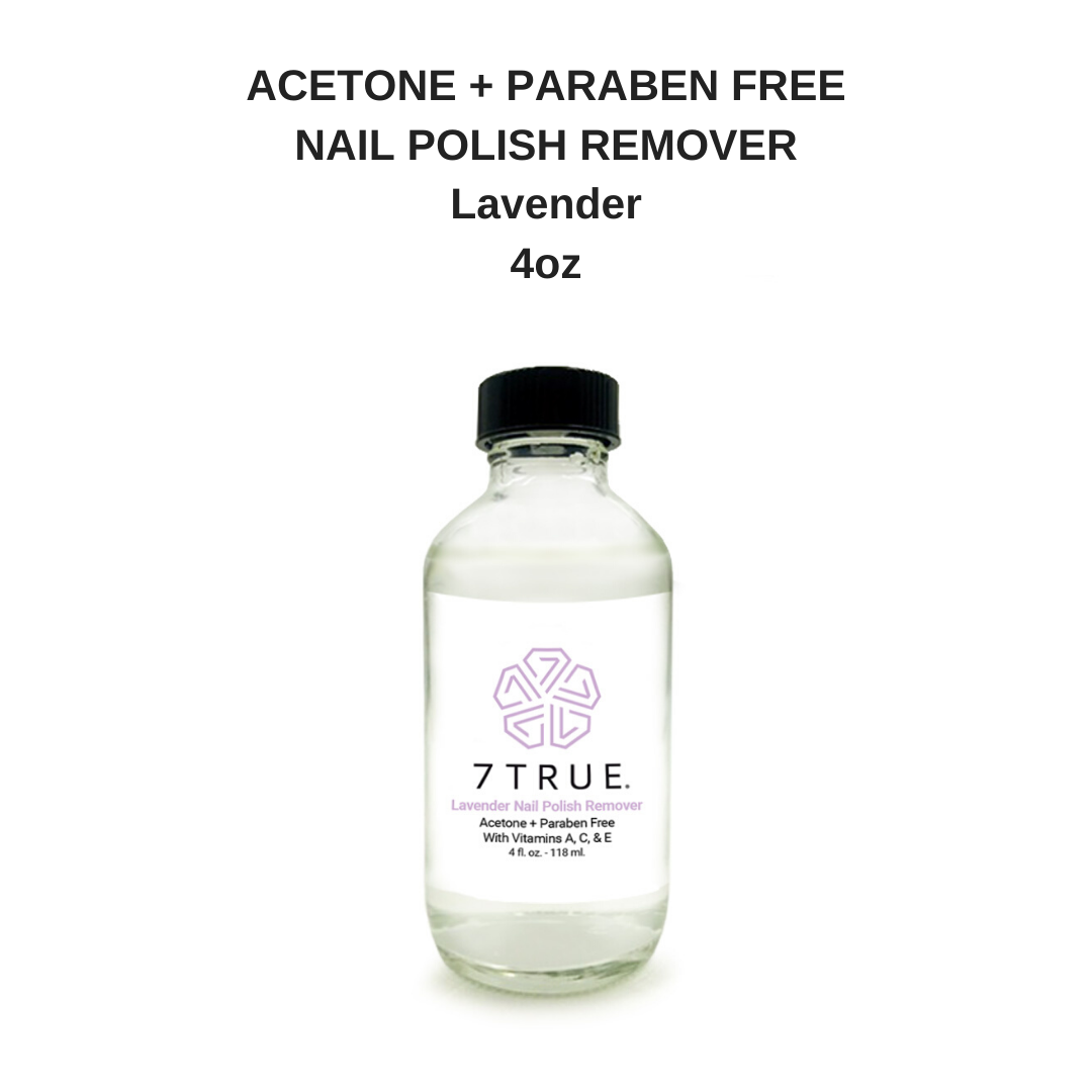 7TRUE Acetone + Paraben Free Nail Polish Remover Lavender