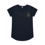Load image into Gallery viewer, Can Badge' Printed Tee - Navy - North End Brewery Co.