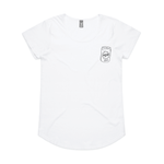 Load image into Gallery viewer, Can Badge' Printed Tee - White - North End Brewery Co.