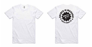 'Brewed in Waikanae' Printed Tee - White - North End Brewery Co.