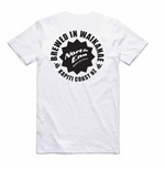 Load image into Gallery viewer, 'Brewed in Waikanae' Printed Tee - White - North End Brewery Co.