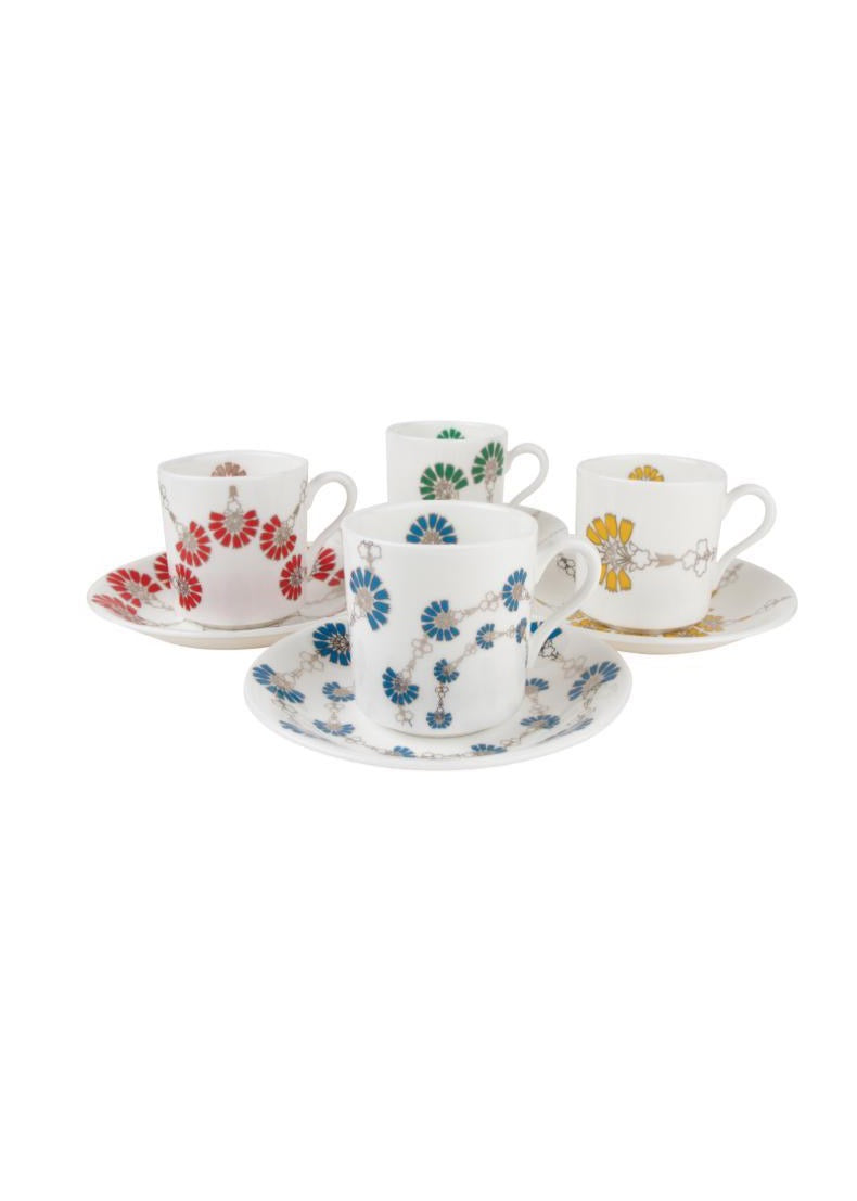 I'm Off To Join The Circus FLORAL ESPRESSO SET