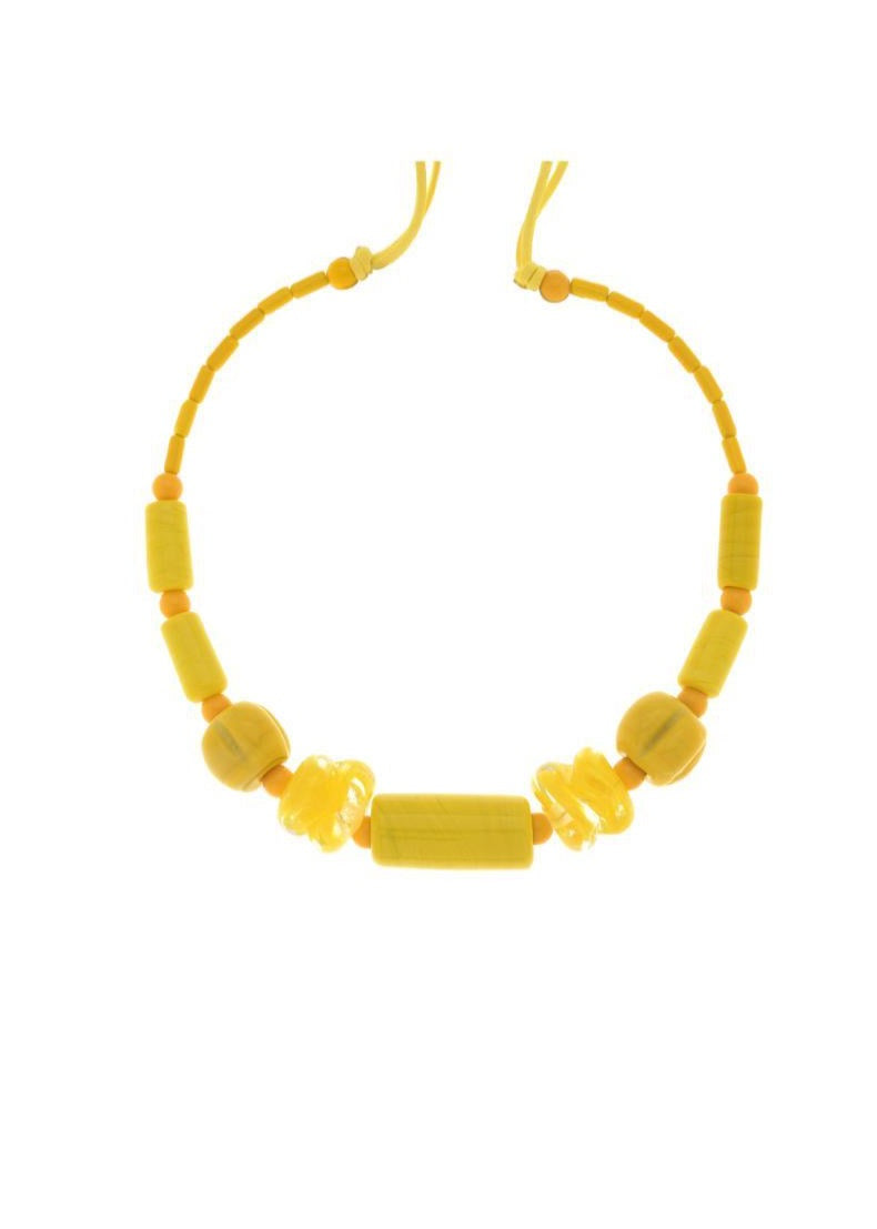 Yellow Muranos Necklace