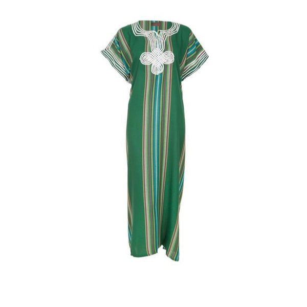 Striped kaftan Green