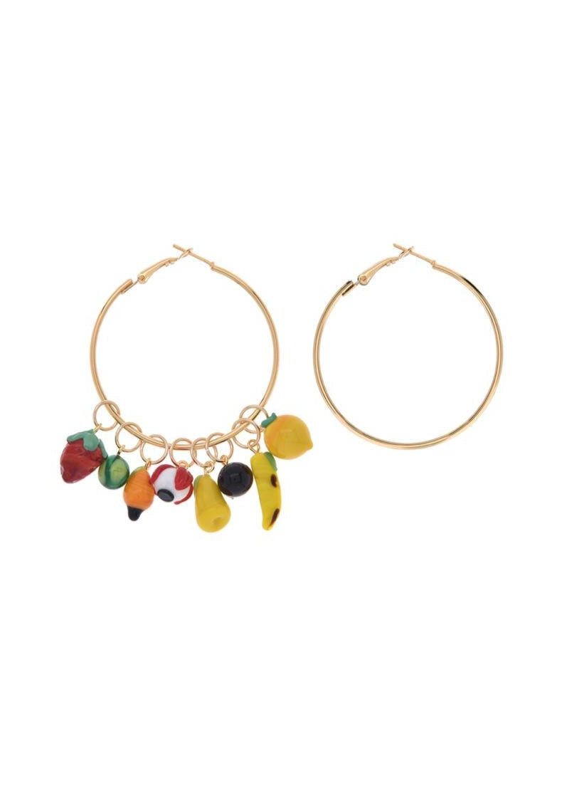 Colorful Mix Hoop Earring