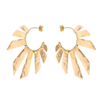 18k Gold Plated Rays of Sun Earrings
