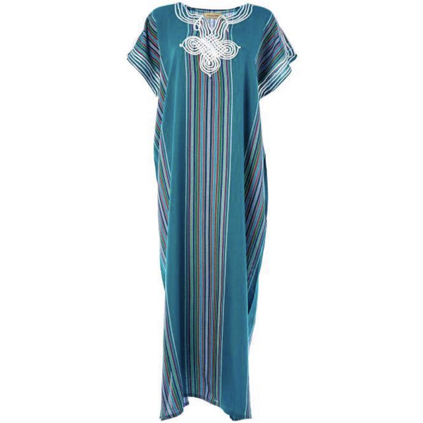 Striped Kaftan - Blue
