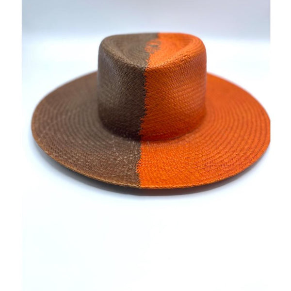 Hat NaturalStraw/Orange mix