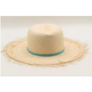 The Panamanian Boater Hat with Blue Trim