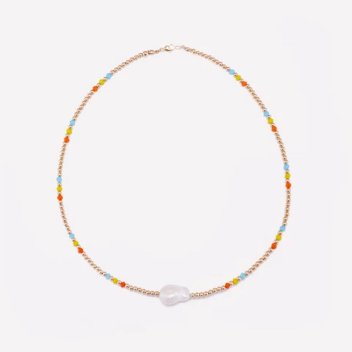 Aqua Mila Rainbow Necklace