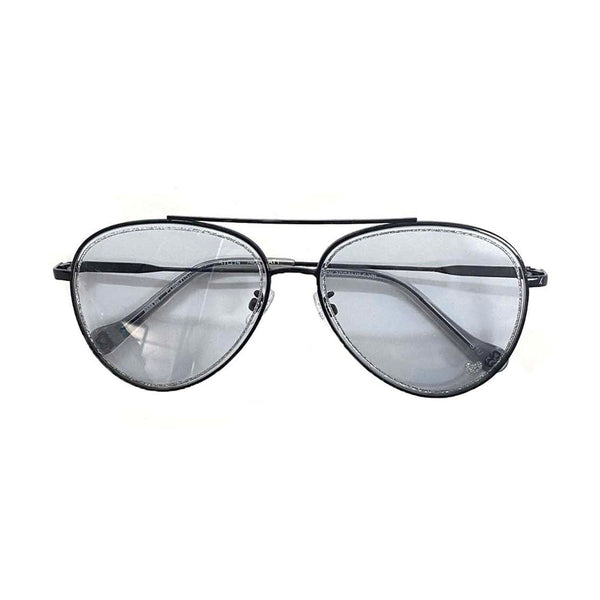 Glitter Aviator Sunglasses Light Gunmetal