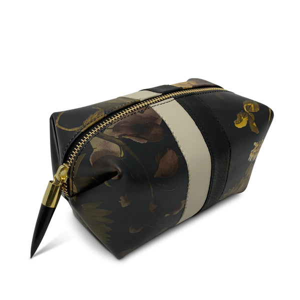 Cosmetic Case - Black Peony and Dark Camo