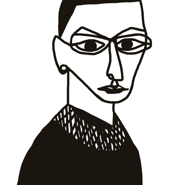 Poster of Ruth Bader Ginsberg Black and White
