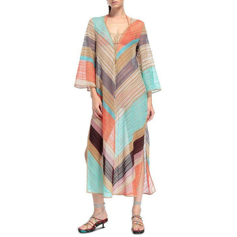 Chevron Beach Kaftan