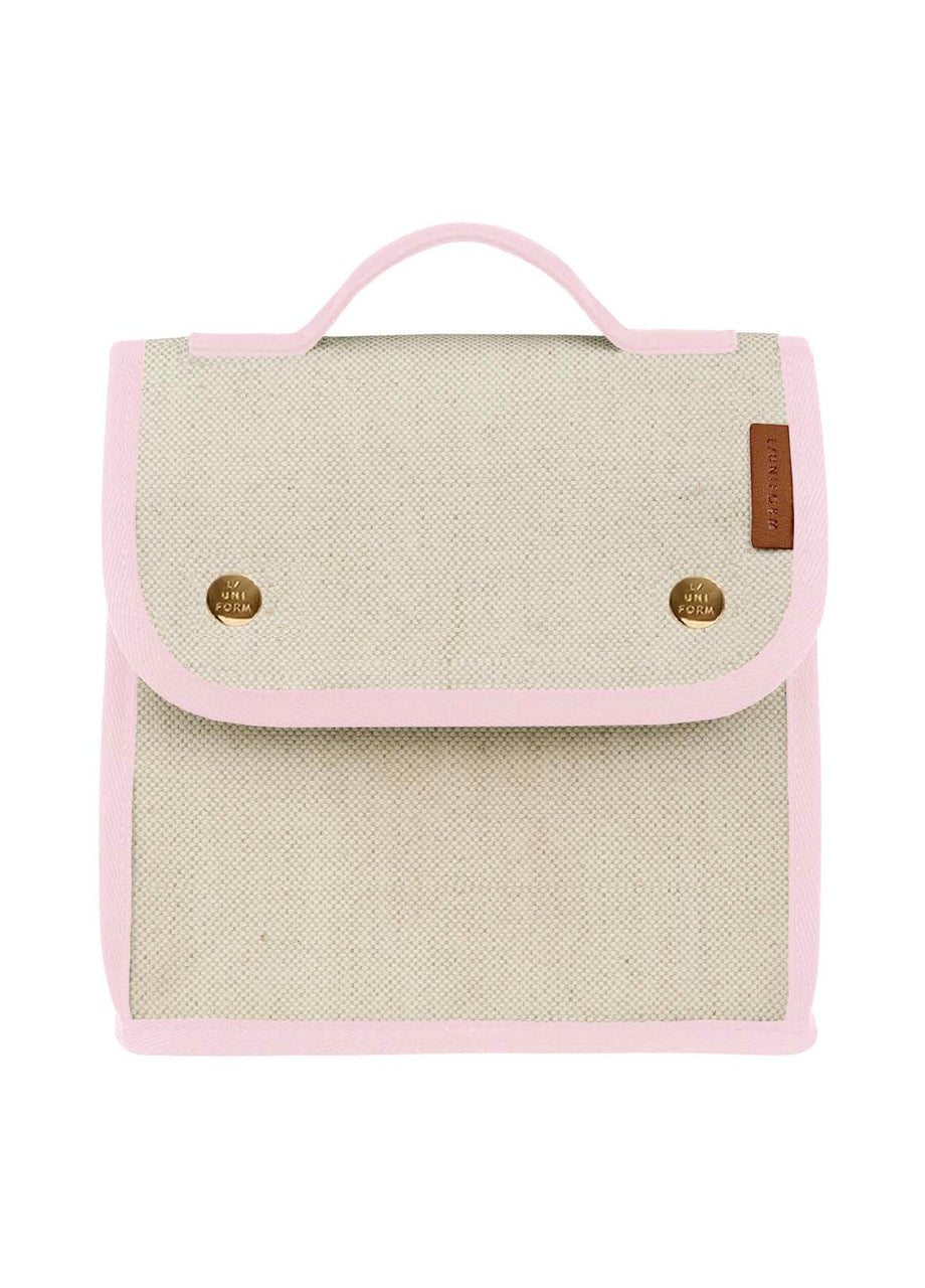 Cooler Bag No.95 - Natural & Pink Canvas