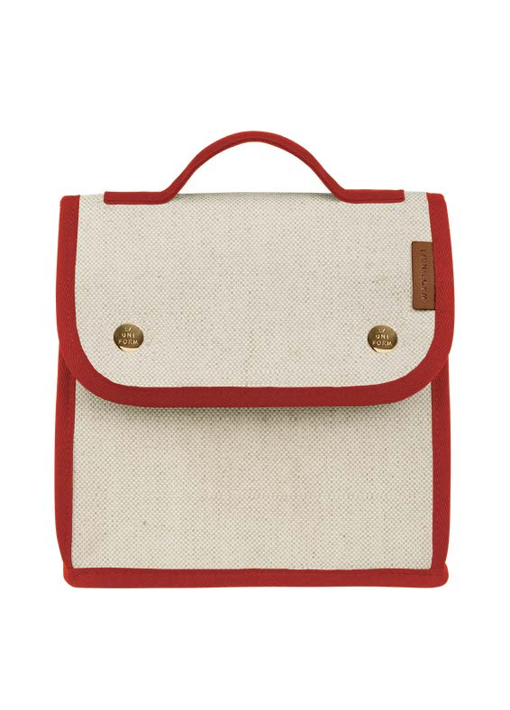 Cooler Bag No.95 - Natural & Red Canvas