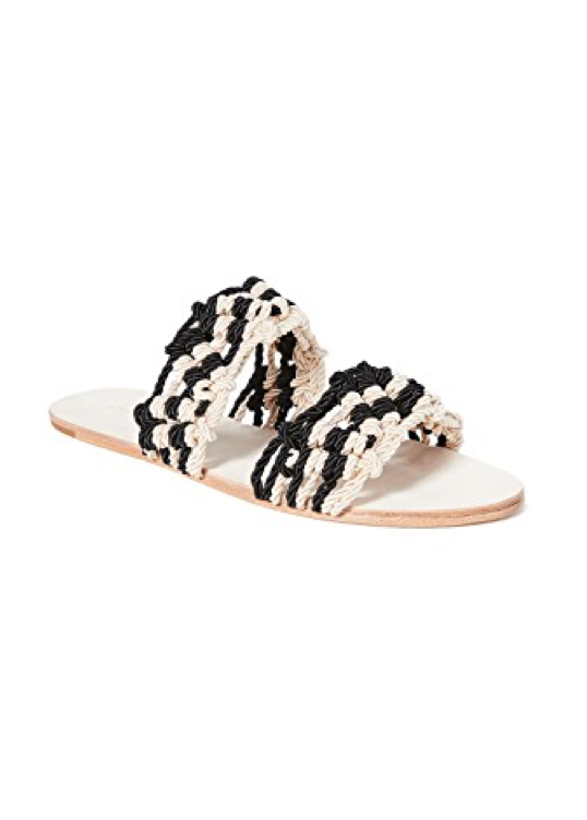 Ulla Johnson Cosa Sandal with black and natural braided nylon cord straps