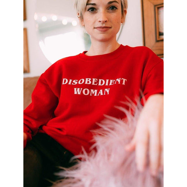 Disobedient Woman Sweatshirt - Red