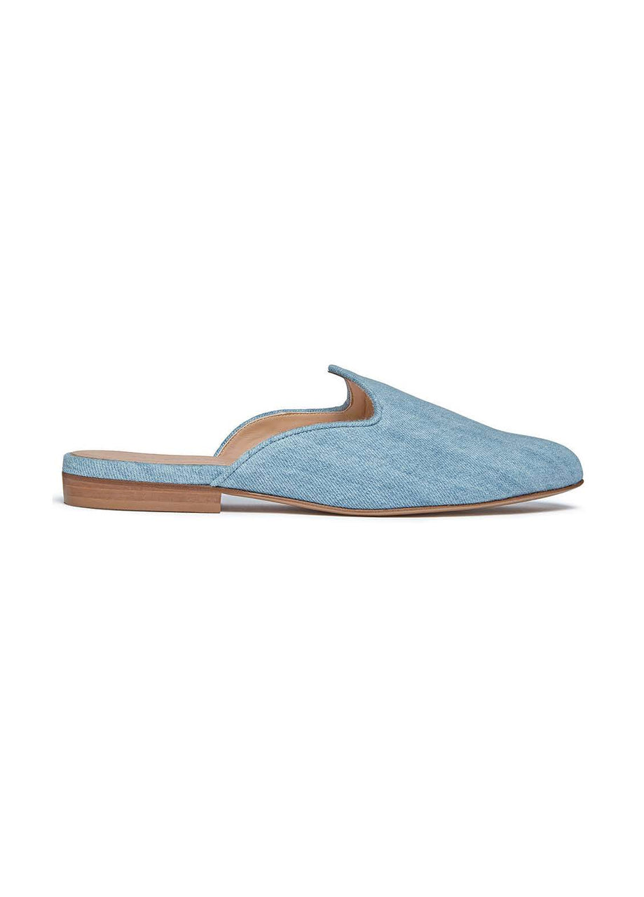 Le Monde Beryl Light Denim Venetian Mule