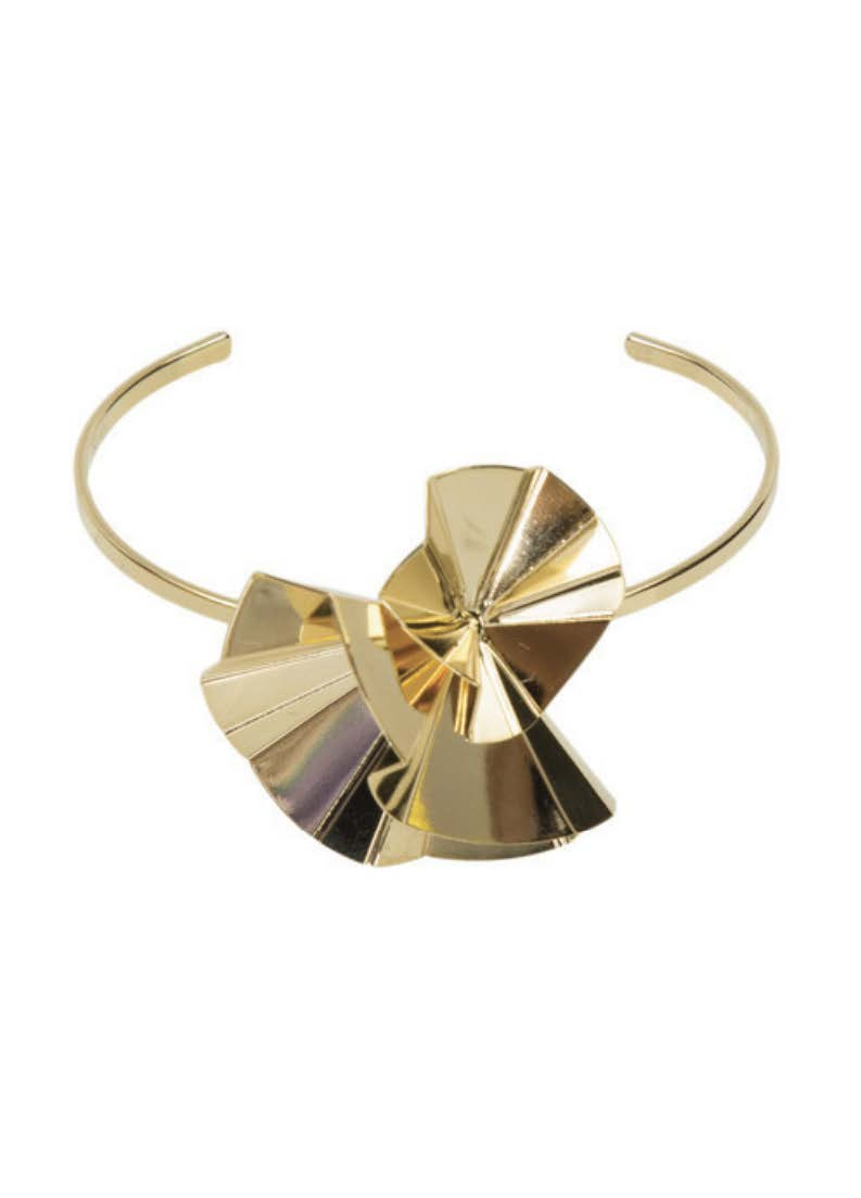 Flora Cuff - Yellow Gold