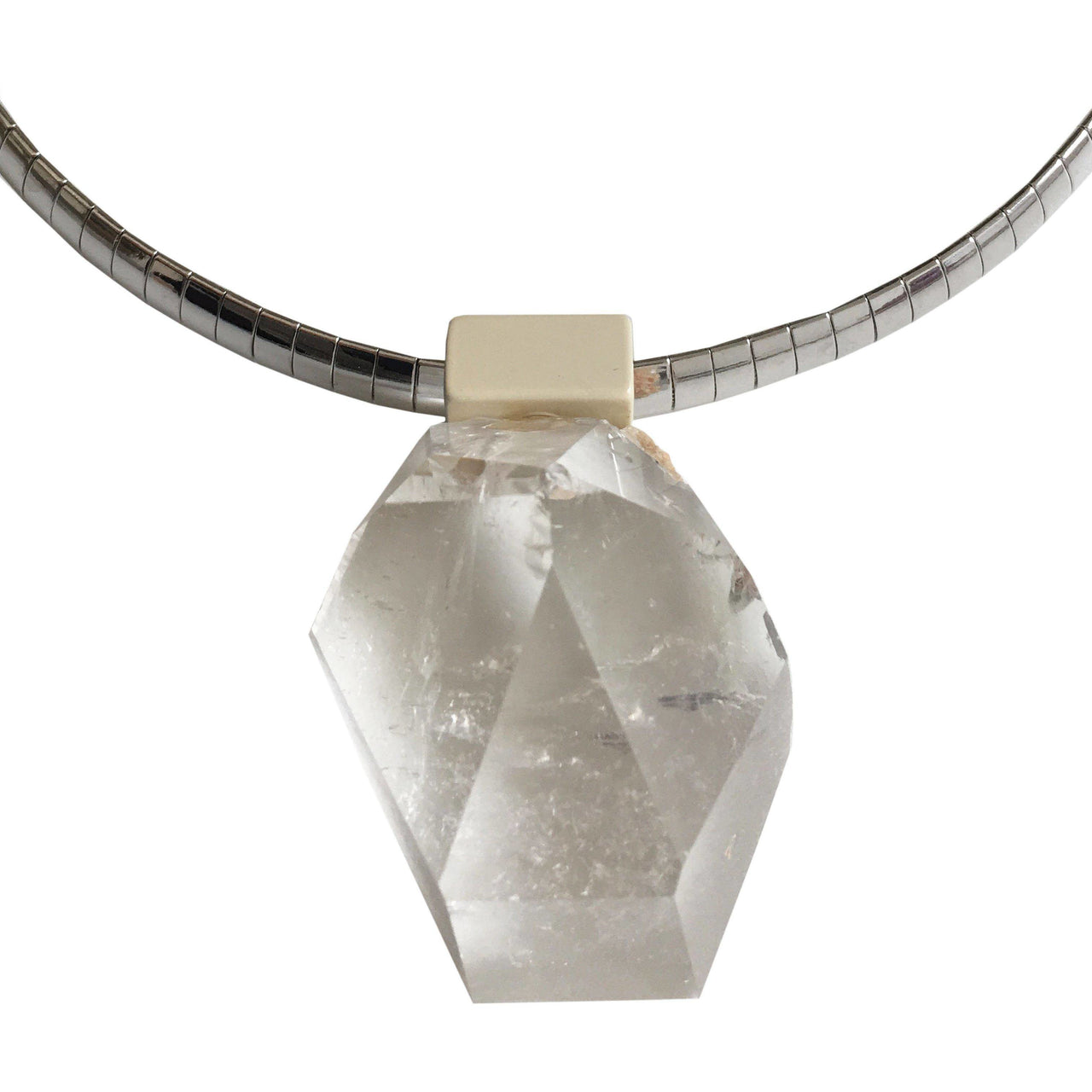 Huli Quartz Necklace with Stainless Steel Chain