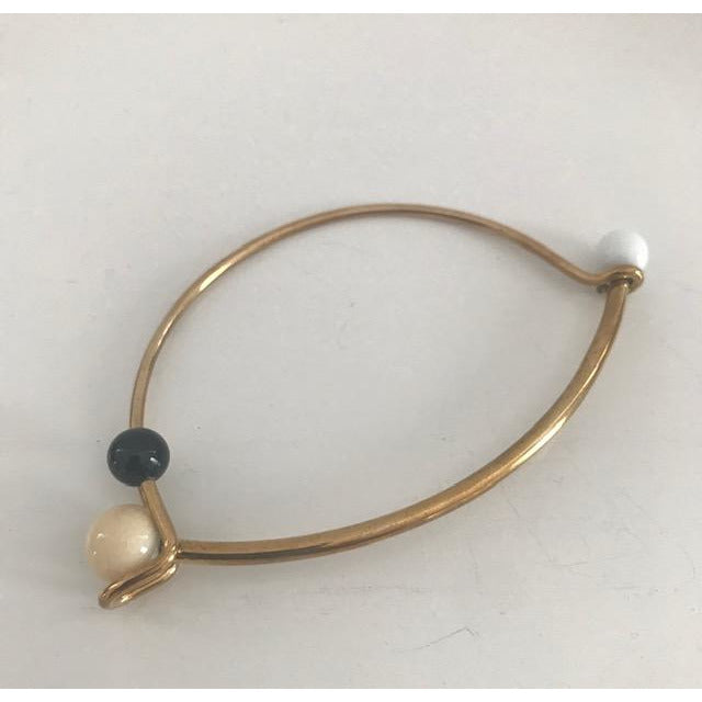Opus Brass Bracelet with Handblown Glass