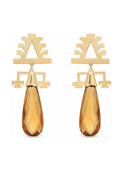 Imperial Topaz Drop Earrings