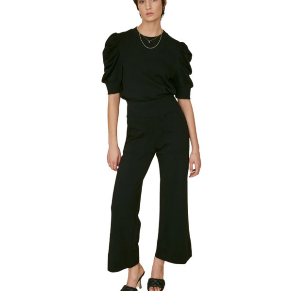 The Culotte Sweatpant In Black