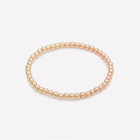 Jen Yellow & Rose Gold Bracelet 4mm