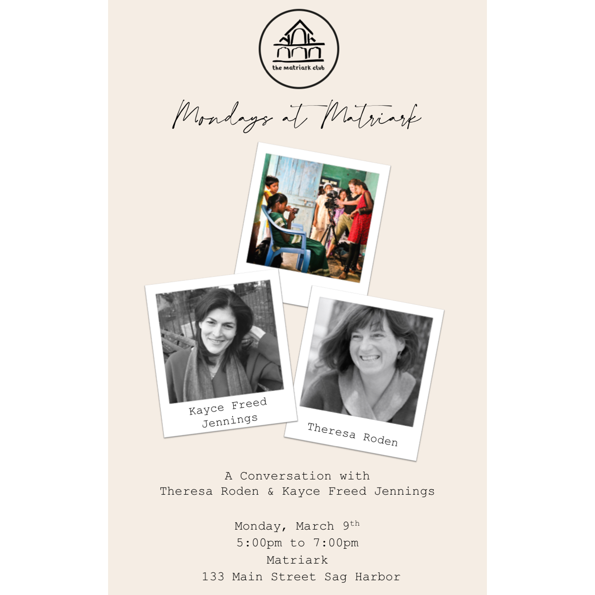 Conversation with Theresa Roden & Kayce Freed Jennings - March 9th