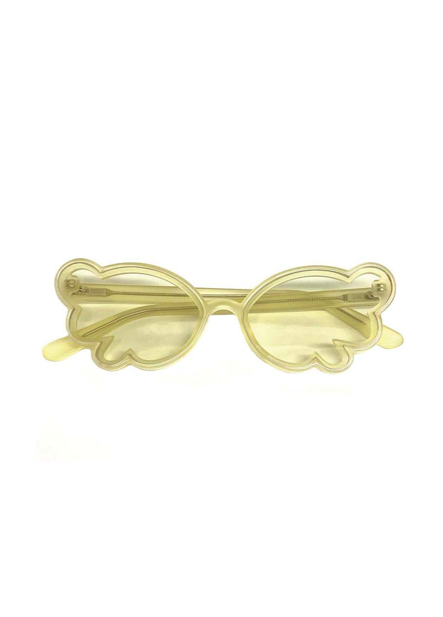 Butterfly Wing Sunglasses Lemon